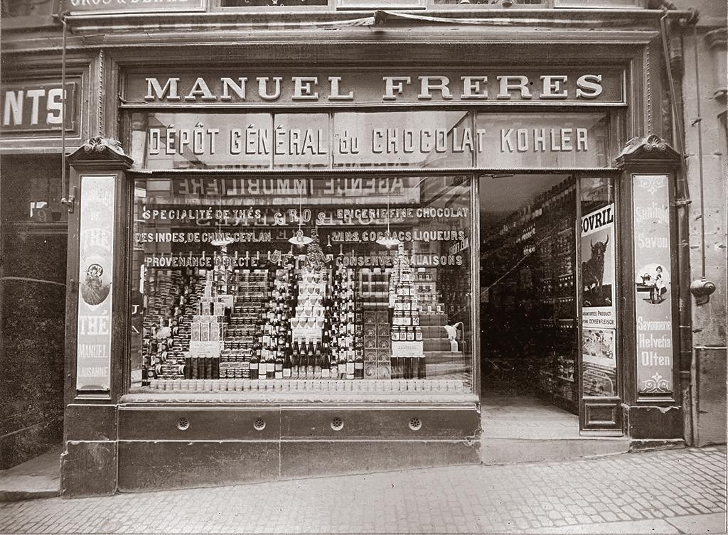 Le magasin MANUEL à la Rue de Bourg à Lausanne en 1912